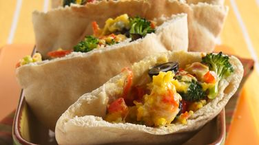 Scrambled Egg and Veggie Pockets