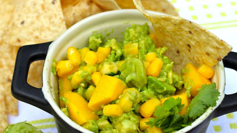 Guacamole with Corn and Mango