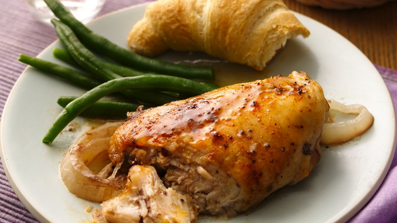 Slow-Cooker Twenty-Garlic Chicken Dinner