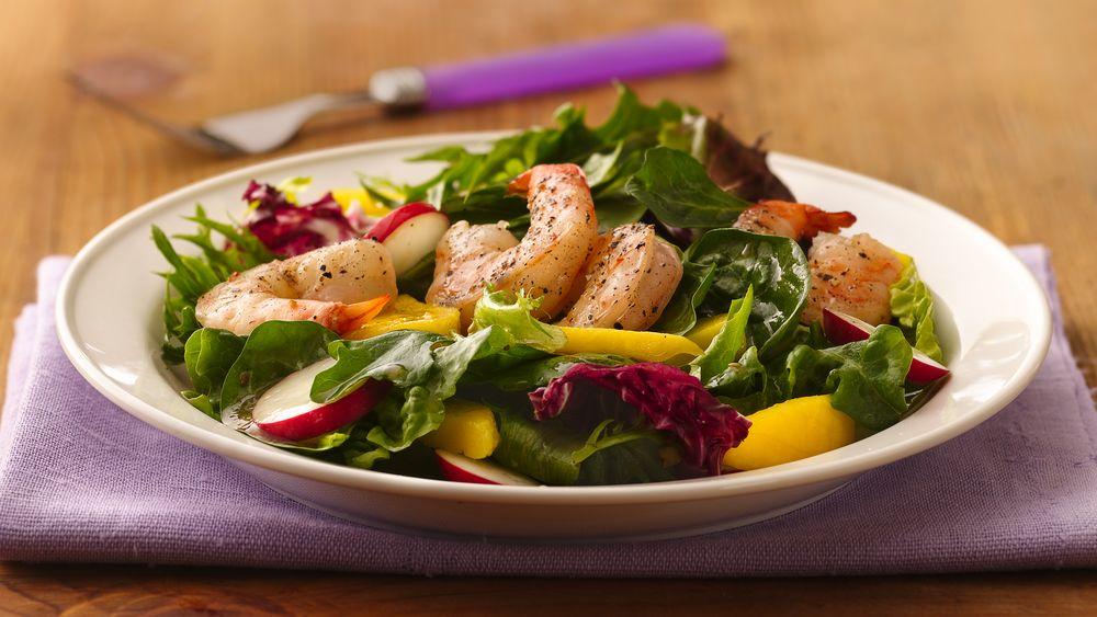 Peppered Shrimp and Mango Salad
