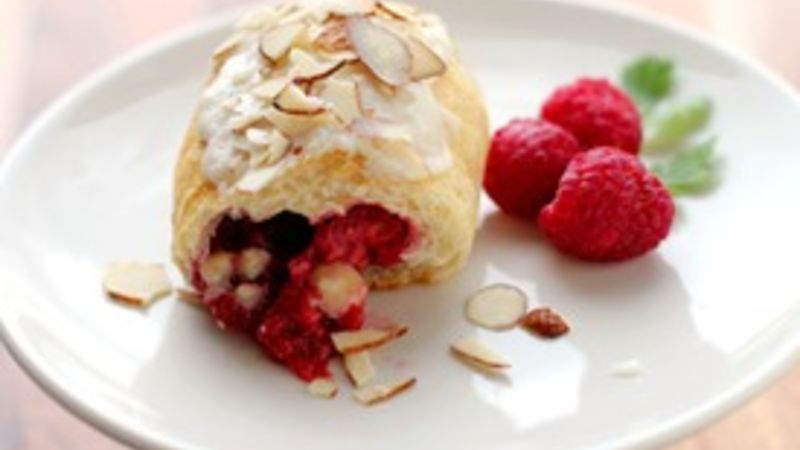 White Chocolate Raspberry Crescents