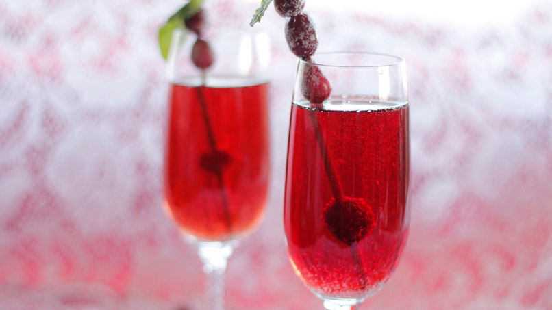 Festive Sparkling Cocktail