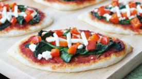 Football Spinach Pizzas