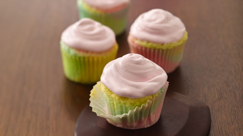 Pastel Angel Food Cupcakes