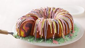 Rainbow Ring Easter Basket Cake