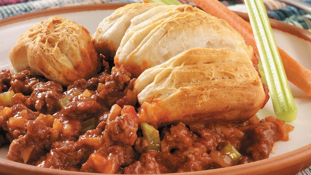 Biscuits and Sloppy Joe Casserole
