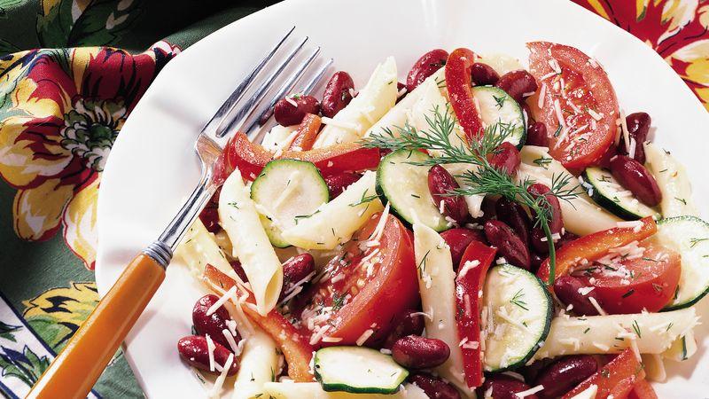 Mostaccioli-Kidney Bean Salad