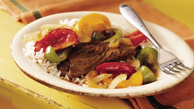 Slow-Cooker Pepper Steak