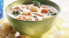 Creamy Chicken-Vegetable Soup