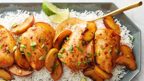 Asian Chicken with Peaches