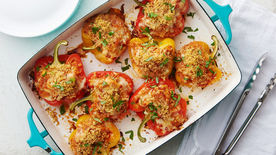 Chicken Parmesan Stuffed Peppers