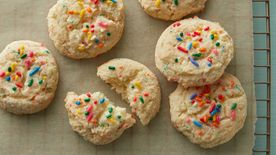 Rainbow Chip Cake Batter Gooey Butter Cookies