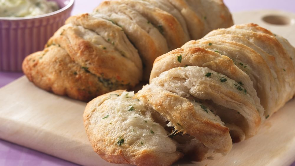 Garlic-Parmesan Pull-Apart Loaves