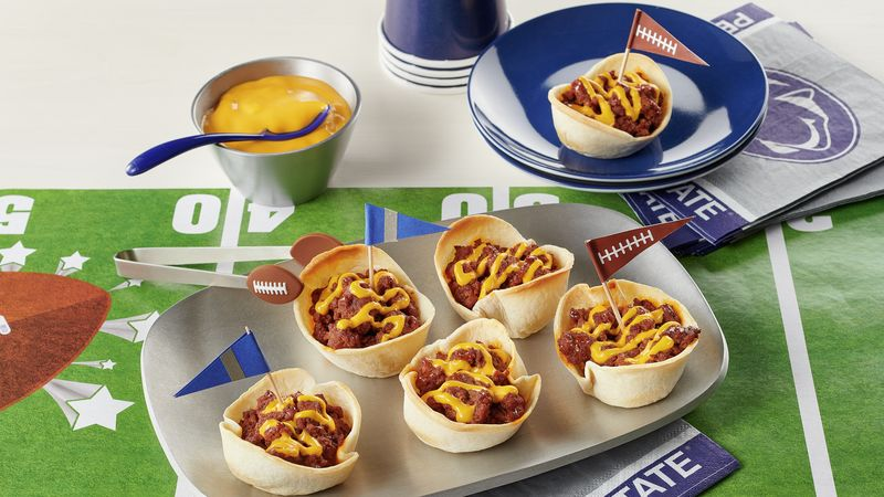 Penn State Muffin-Tin Cheesy Beef Tacos