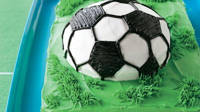 Soccer Ball Cake Recipe BettyCrocker Extraordinary Decorate Your Own Soccer Ball