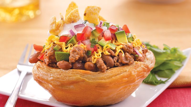 Biscuit Taco Cups