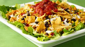 Southwestern Chicken Layered Salad