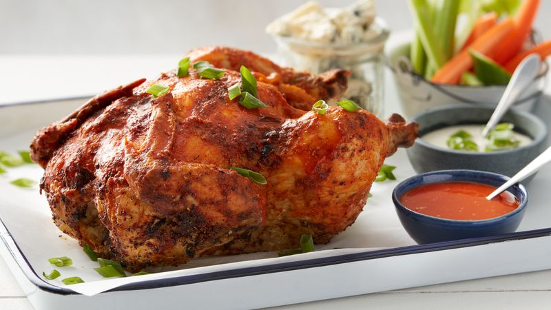 Buffalo Beer-Can Chicken