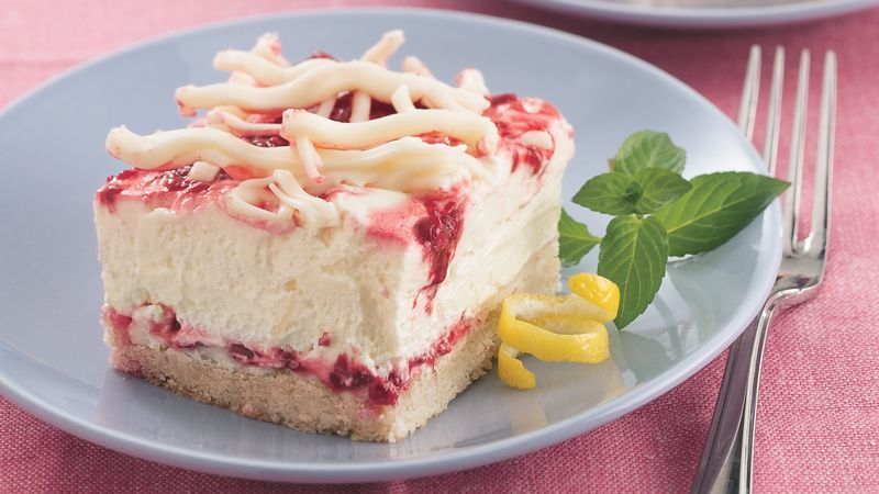 Fluffy Lemon-Raspberry Treat