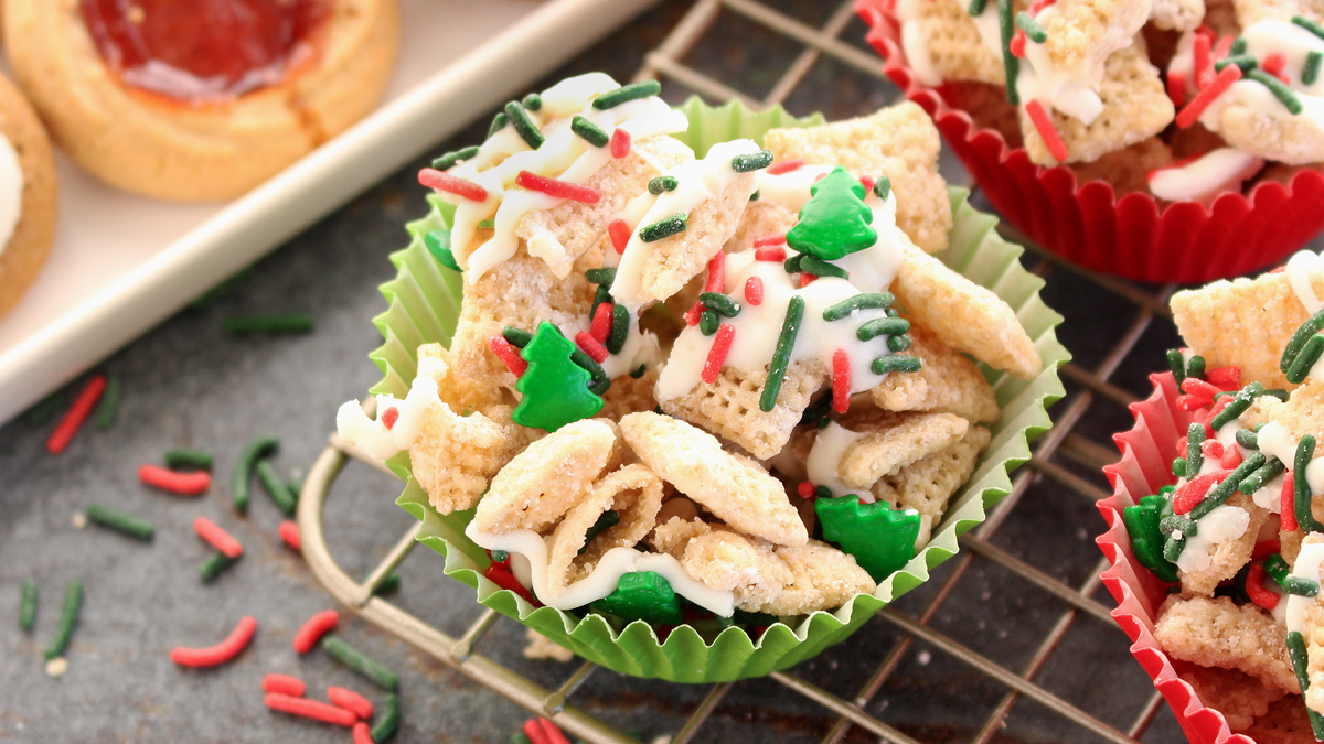Gluten-Free Christmas Sugar Cookie Chex™ Party Mix
