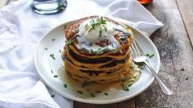 Roasted Acorn Squash and Shallot Pancakes