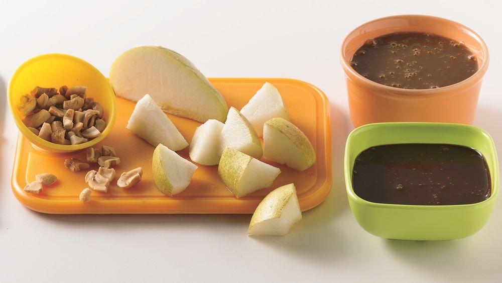 Caramel-Chocolate Apple Fondue