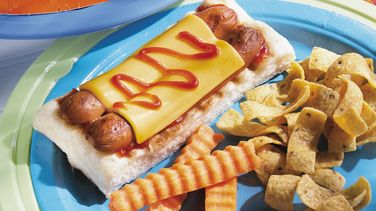 Grilled Dogs on a Raft
