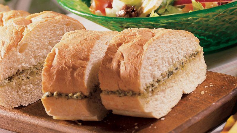 Pesto French Bread Recipe Pillsbury Com