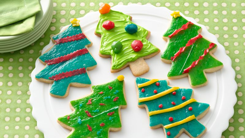 Fruity Fun Christmas Tree Cookies