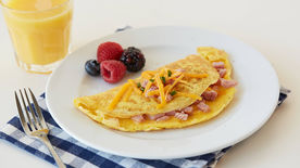 Folded Ham and Cheddar Omelette