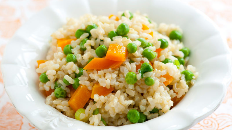 Buttered Rice with Peas