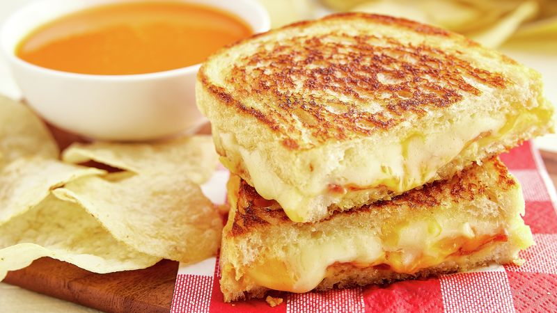 Grilled Three-Cheese Bacon Sandwiches