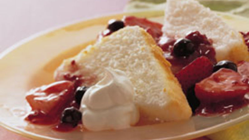 Triple-Berry Angel Shortcakes