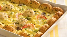 Fancy Shrimp and Egg Bake
