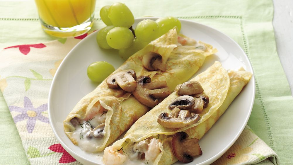 Savory Shrimp Crepes