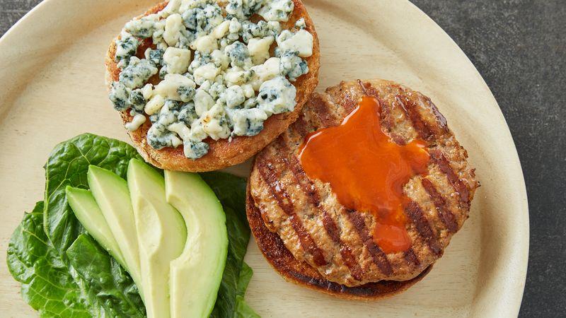 Buffalo Turkey Burgers Recipe Tablespoon Com