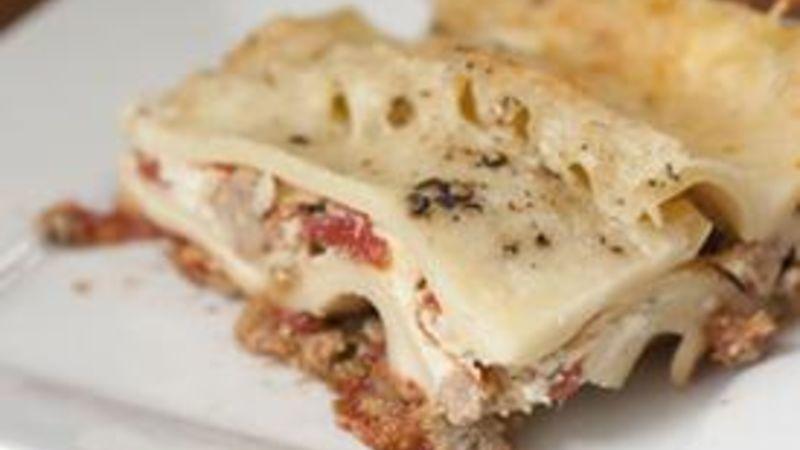 Fire Roasted Italian Sausage Lasagna