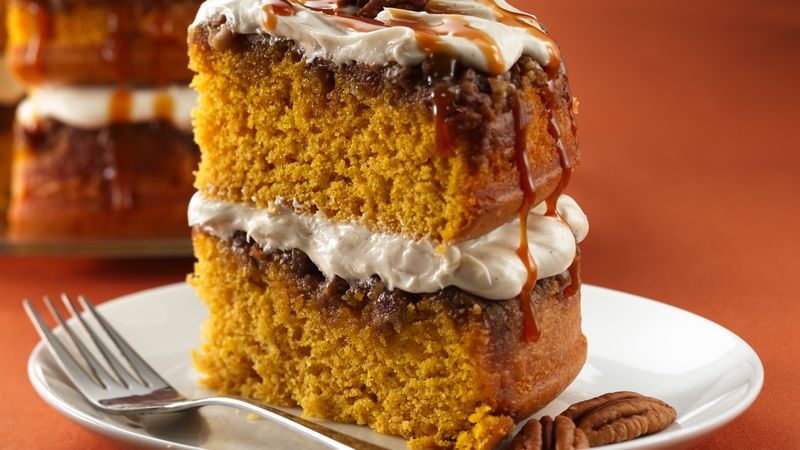 Praline Pumpkin Cake Recipe Bettycrocker Com