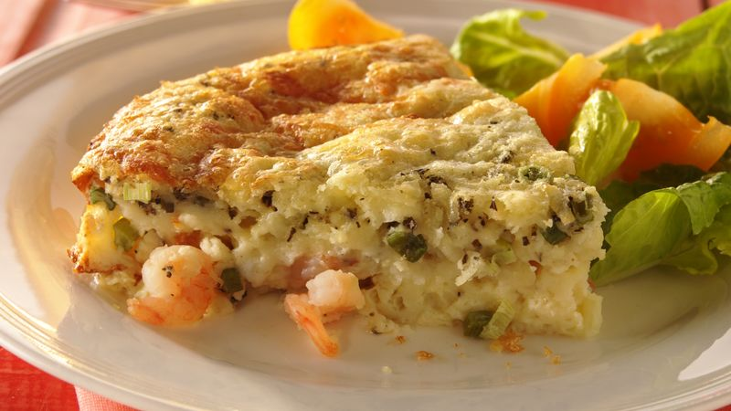 Impossibly Easy Shrimp Pie