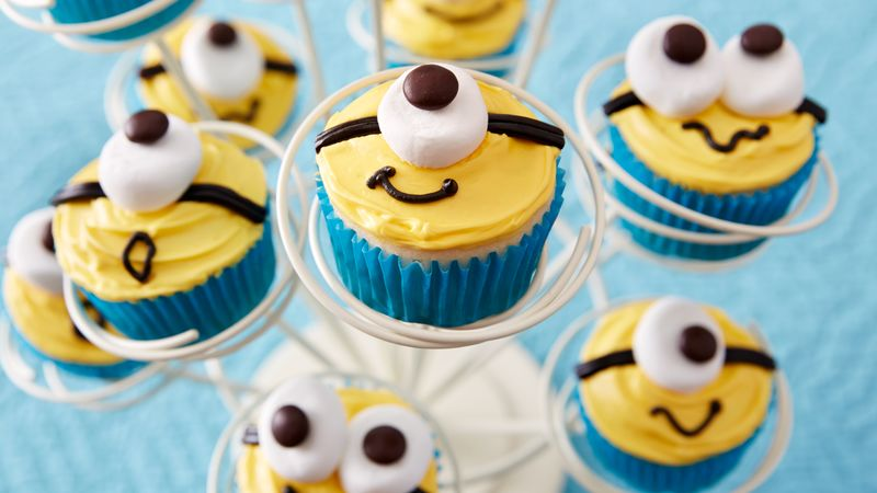 Minion Cupcakes Recipe BettyCrockercom