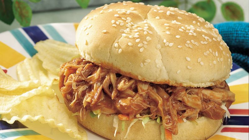 Teriyaki Barbecued Chicken Sandwiches