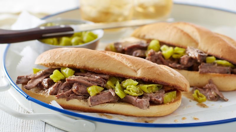 Slow-Cooker Mississippi Roast Sandwiches
