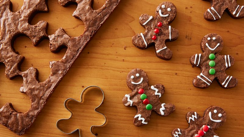Gingerbread Brownie Cutouts