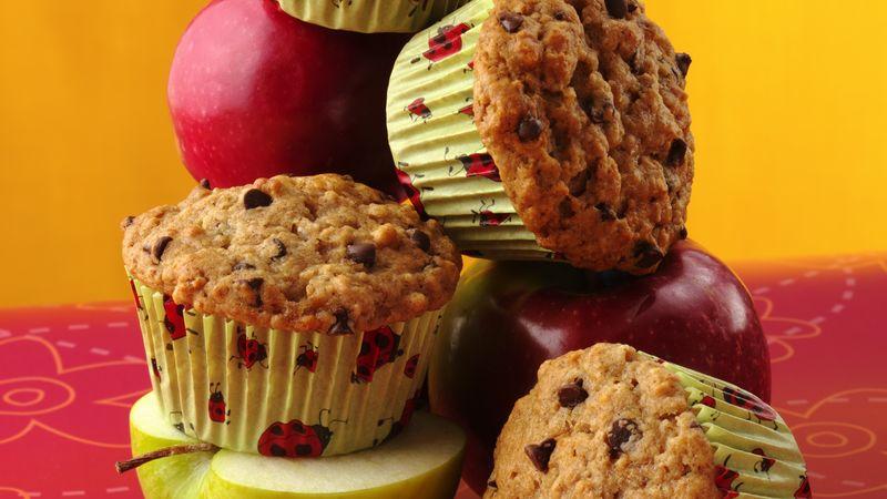 Choco Chip-Applesauce Muffins
