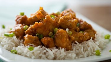 Honey-Agave Chicken with Rice