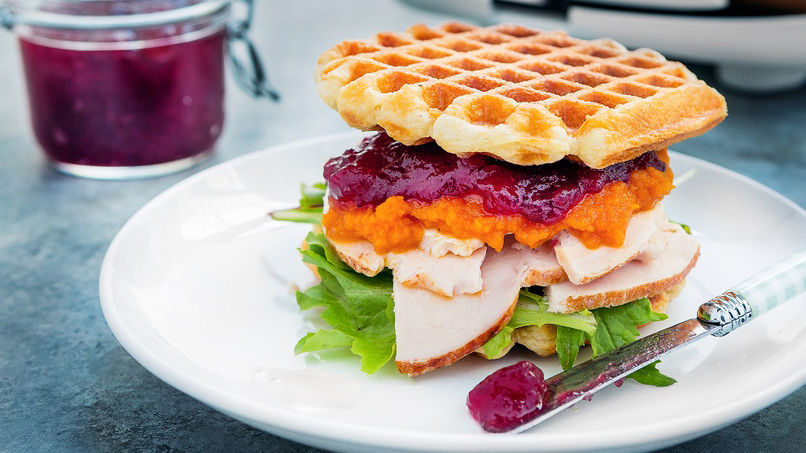 Everything Waffle Sandwiches