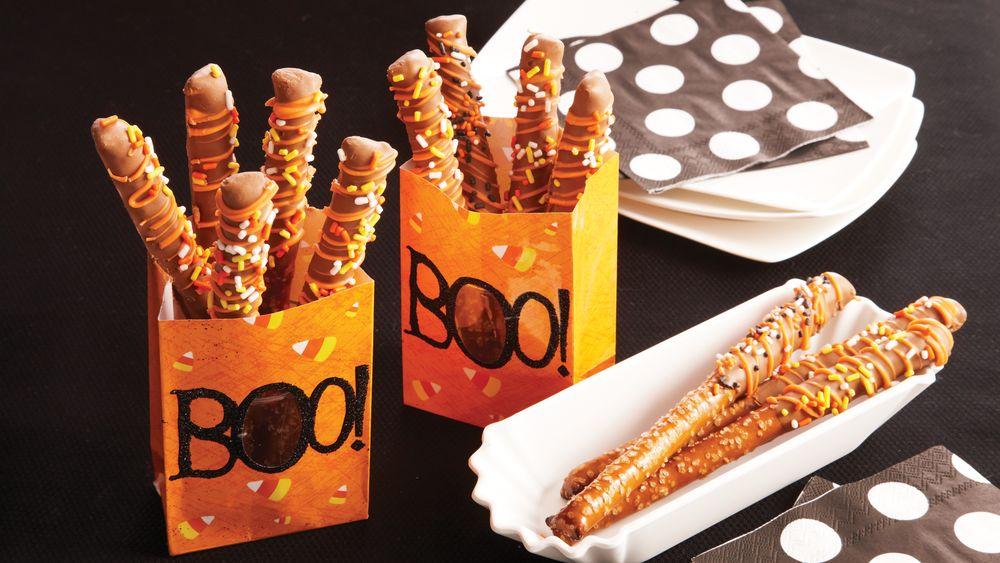 Halloween Pretzel Rods