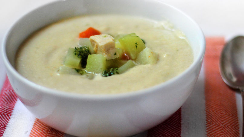 Cream of Chayote and Chicken