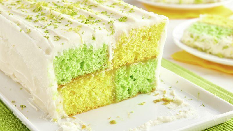 Lemon-Lime Checkerboard Cake