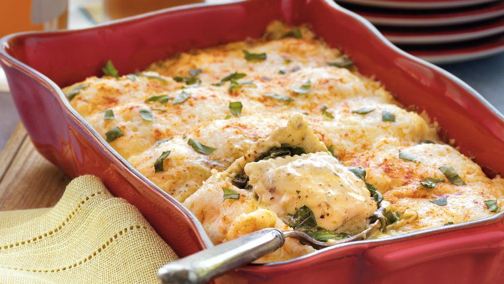 Spinach and Ravioli Lasagna recipe from Pillsbury.com